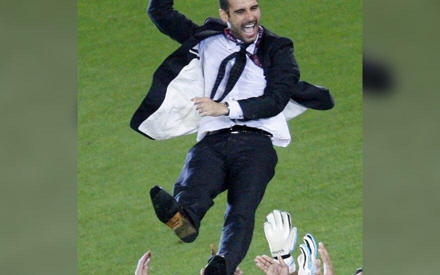"""J.Guardiola: """"Barcelona"""" - geriausia komanda pasaulyje"""