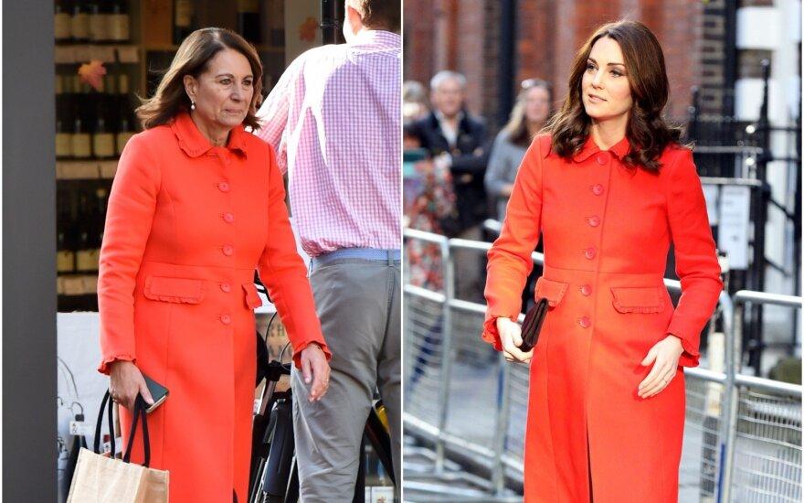 Carole ir Kate Middleton