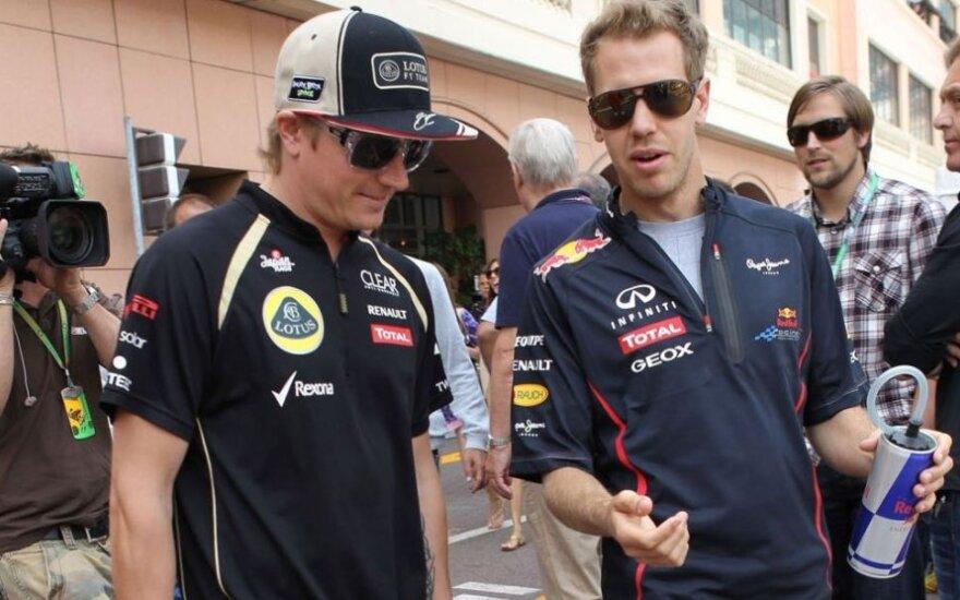 Kimi Raikkonenas ir Sebastianas Vettelis