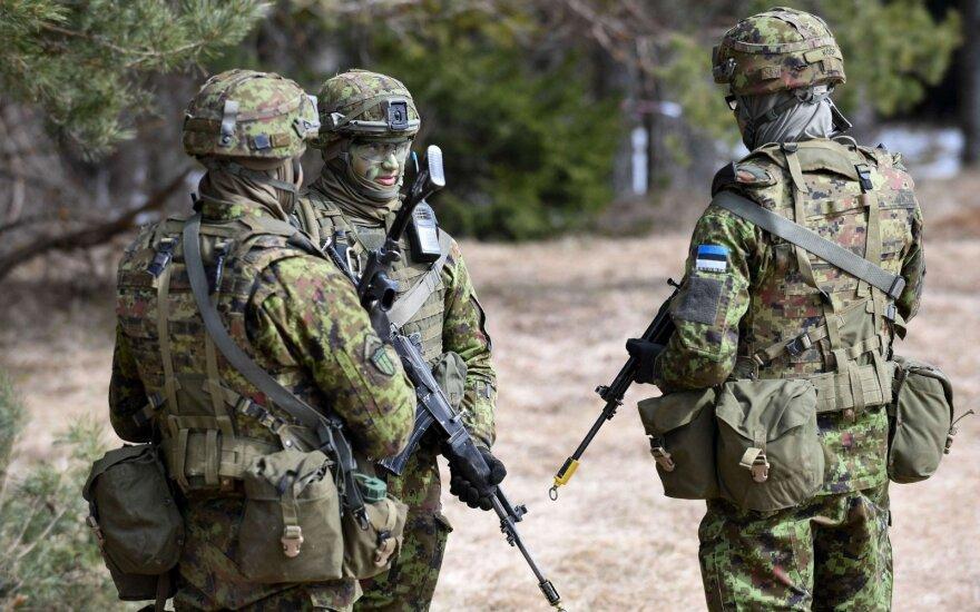Estijoje per 200 atsargos karių pašaukti į iš anksto neskelbtas pratybas