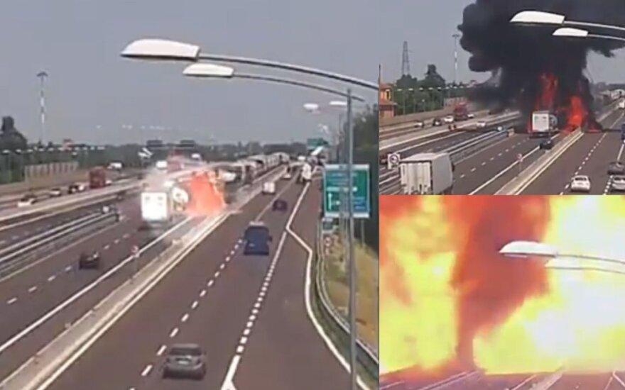Vilkiko sprogimas greitkelyje