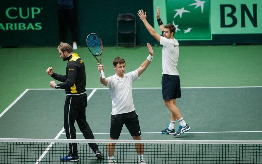 Daviso taurė: Berankis ir Grigelis išplėšė pergalę prieš Estijos porą – Lietuva kitame etape