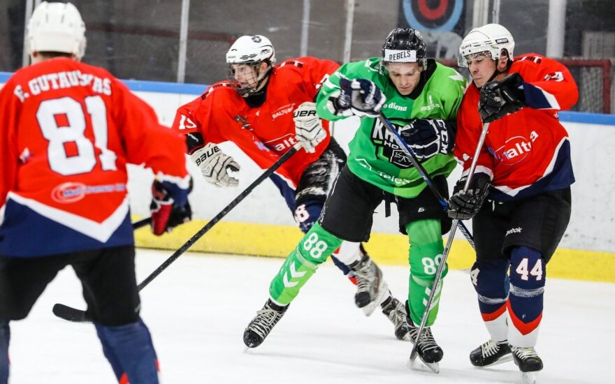 """""""Kaunas Hockey"""" ir """"Baltų Ainių – HC Klaipėdos"""" komandų akistata"""
