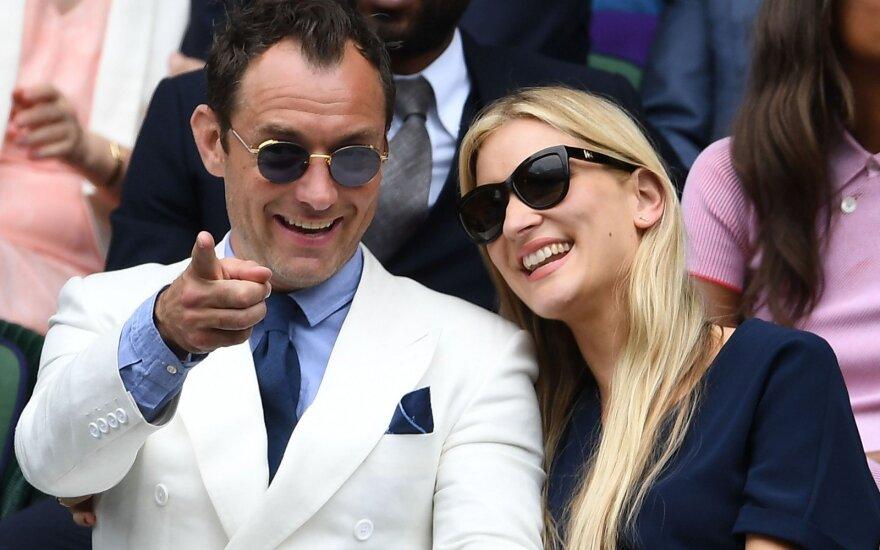 Jude Law ir Phillipa Coan