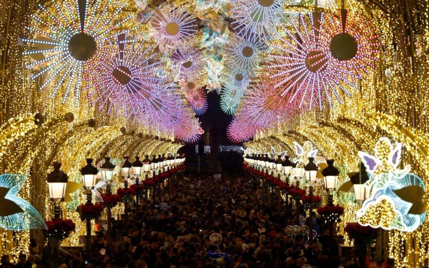 Kalėdiniai papuošimai Malagoje