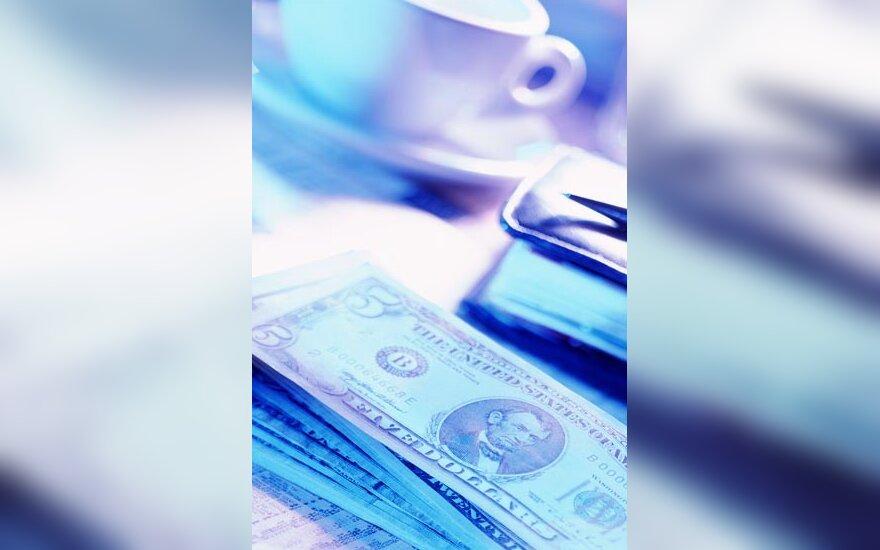 Pinigai, doleris, banknotas, kavinė, arbatpinigiai