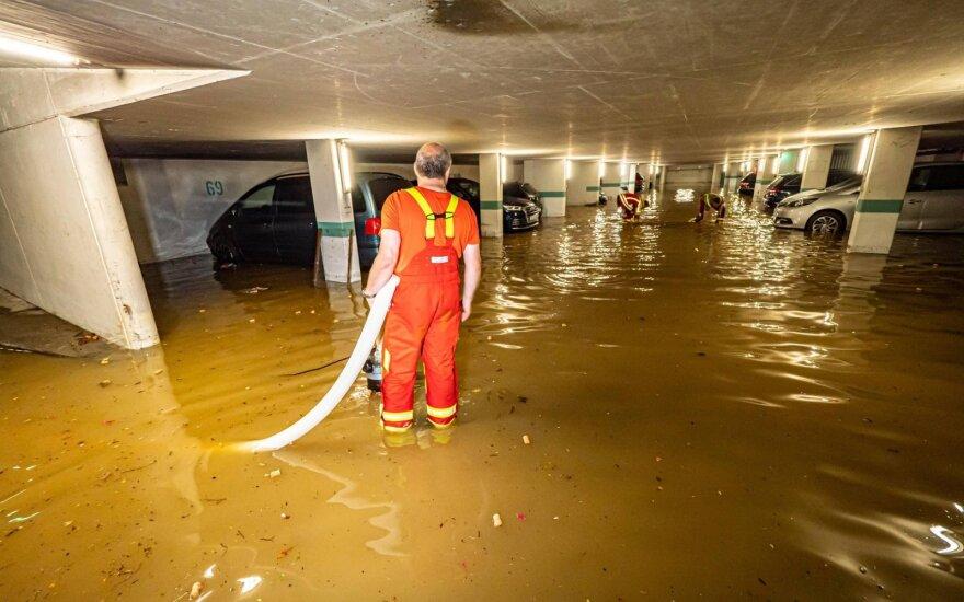 Vokietijoje ir Šveicarijoje siautė smarkios vasaros audros