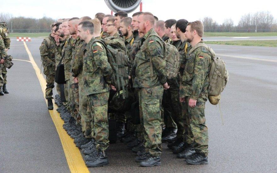 Į Lietuvą atvyko Vokietijos kariai