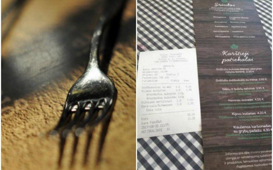 Dienos pietūs restorane papiktino – išsirinko patiekalą iš dienos meniu, teko mokėti kaip iš įprasto