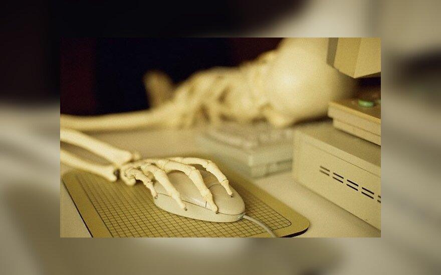 Mirtis prie kompiuterio