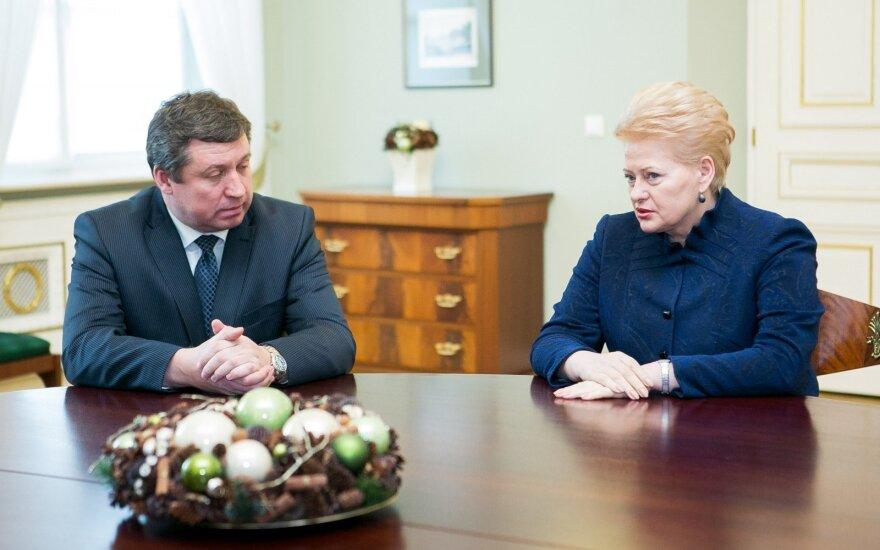 Raimundas Karoblis ir Dalia Grybauskaitė
