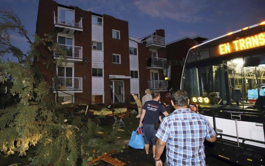 Kanados sostinės pakraštyje siautęs tornadas apgadino namų