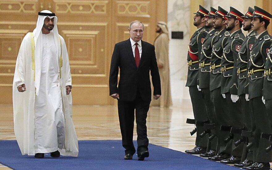 Vladimiras Putinas lankosi JAE