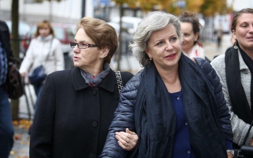 Krystyna Janda and Danuta Walesa