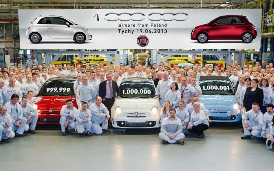 Lenkijoje pagamintas milijoninis Fiat 500