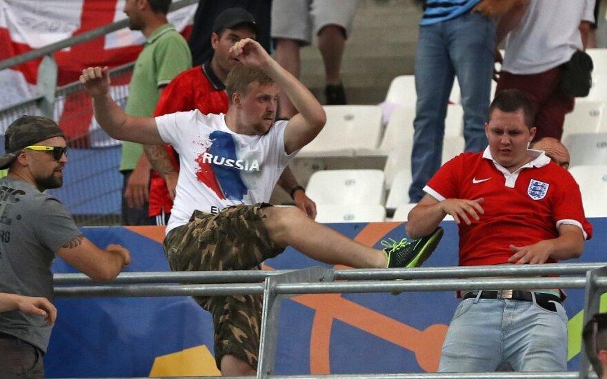 Rusijos ir Anglijos fanų susirėmimai per Europos čempionatą