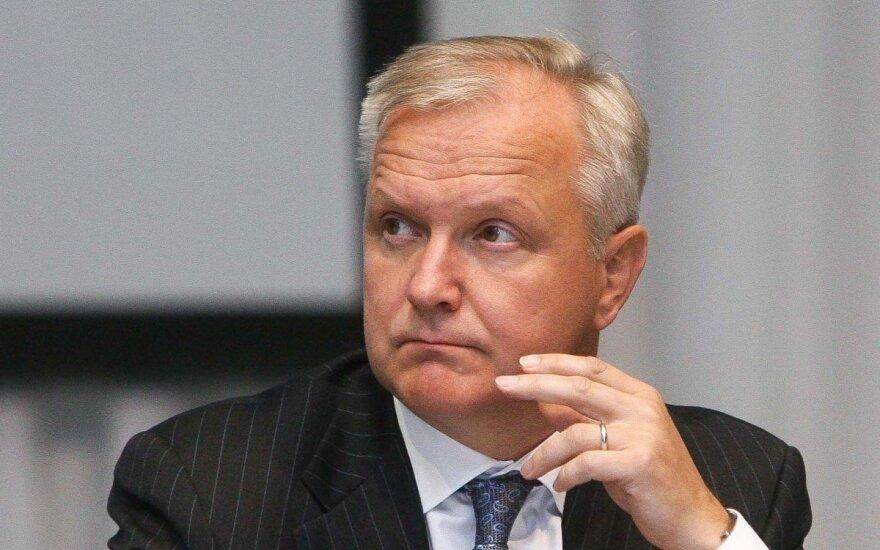 Ekonomikos komisaras: krizė nesibaigė