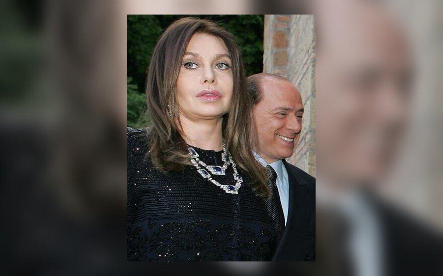 Veronica Lario ir Silvio Berlusconi