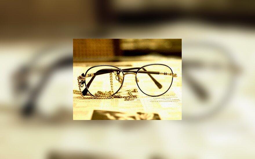 akiniai, skaityti, laikraštis, spauda