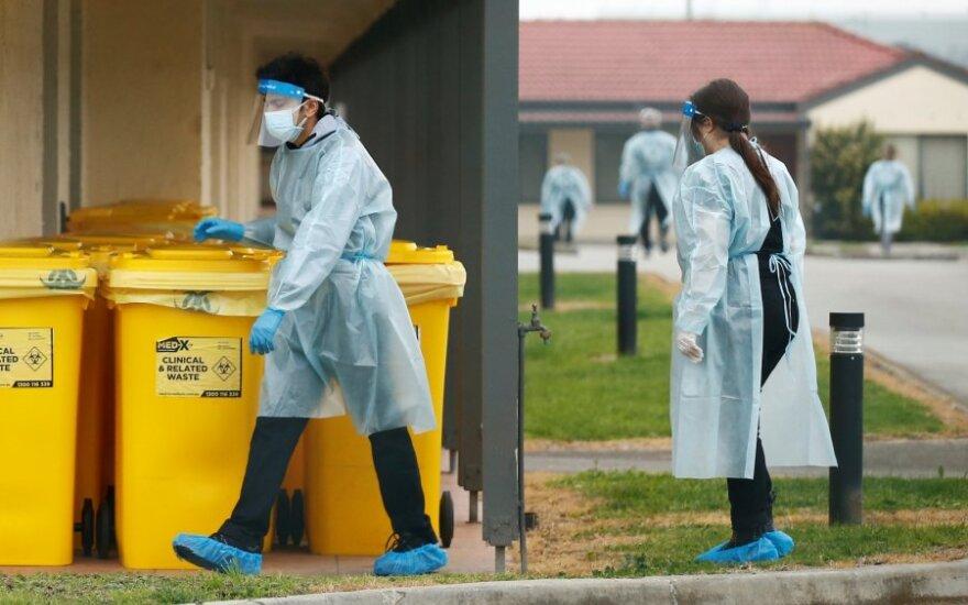 Australijoje per parą nustatyti 384 užsikrėtimo koronavirusu atvejai