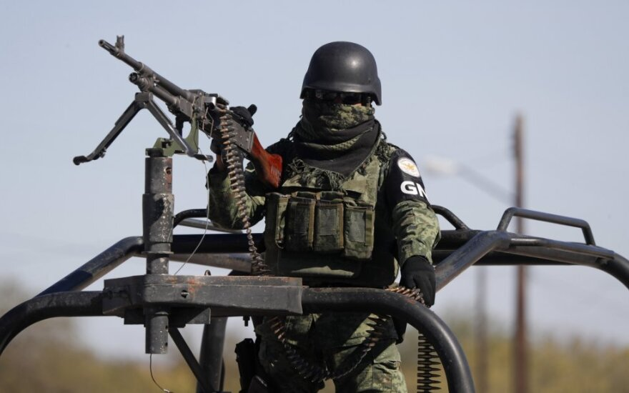 Meksikos Nacionalinės gvardijos karys