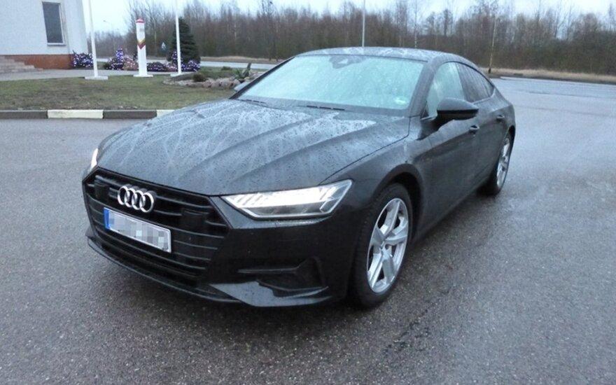 """Ukrainiečiai į Lietuvą važiavo ką tik Vokietijoje pavogtu nauju """"Audi A7 Sportback"""""""
