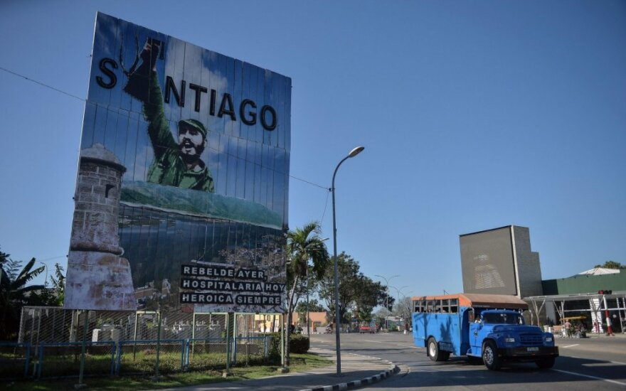 Fidelio Castro plakatas Kuboje