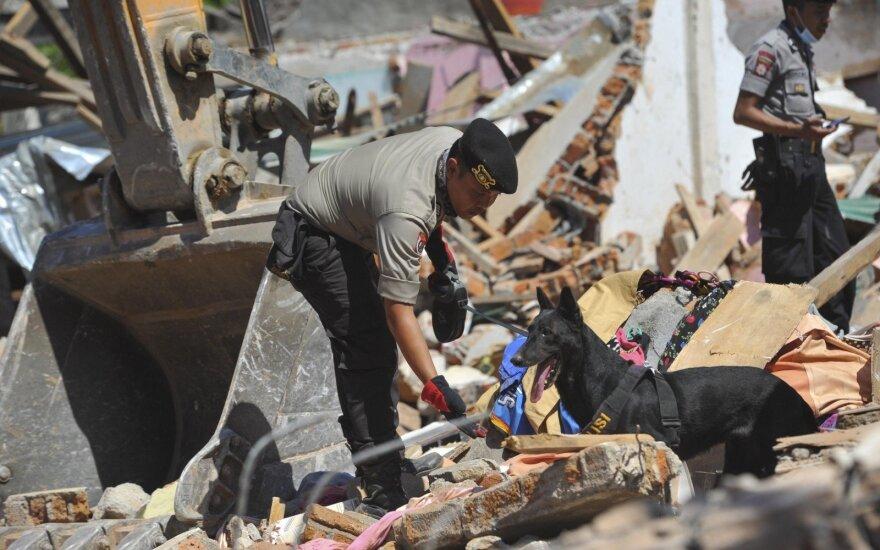 Prognozuojama, kad žemės drebėjimo Indonezijoje aukų skaičius didės