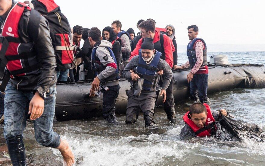 Pabėgėliai Skala Sikaminias kaimelyje