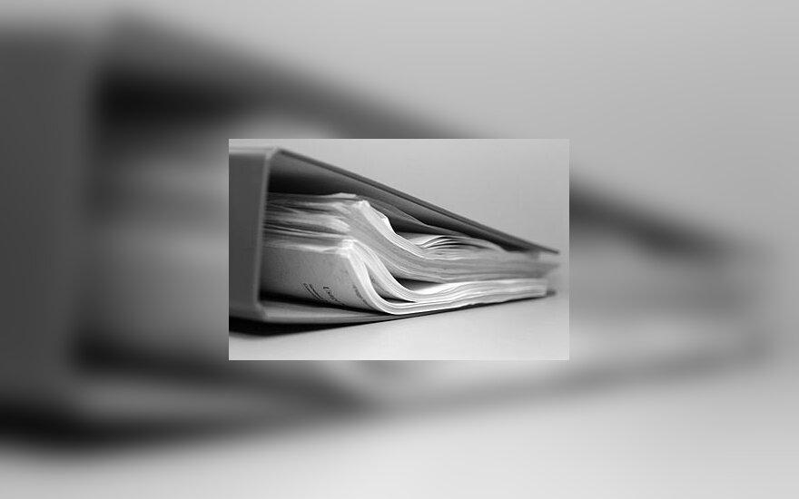 Dokumentai, ofisas, segtuvas, popieriai