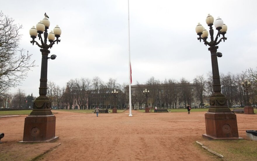 Conspicuously empty spot at the centre of Lukiškių Square is where the statue of Lenin used to stand.