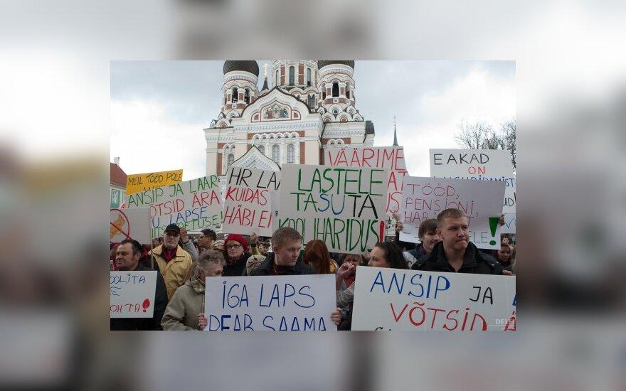 Estijos sostinėje vyko protestas dėl pensinio amžiaus ilginimo