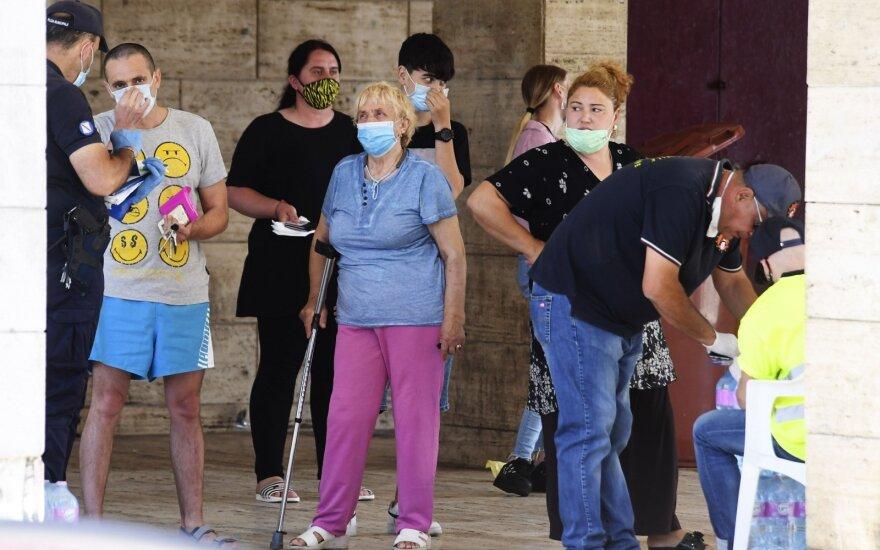 Italijoje per parą užfiksuotų naujų užsikrėtimo koronavirusu atvejų skaičius – didžiausias per beveik du mėnesius