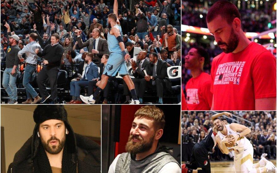 """Po tragiško Gasolio pasirodymo – """"Raptors"""" fanų tulžis: kažkur Memfyje Valančiūnas dabar turbūt juokiasi"""