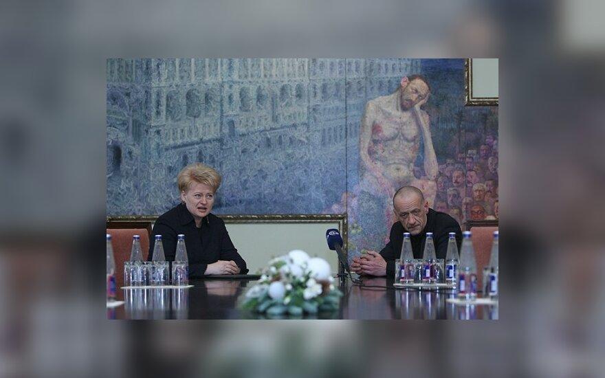 D.Grybauskaitė Lietuvą nervins drąsiu Š.Saukos paveikslu