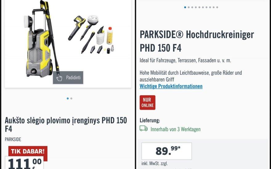 """Piktina """"Lidl"""" kainų skirtumas: Vokietijoje ir vėl pigiau?"""