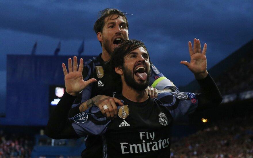 "UEFA Čempionų lygos pusfinalis: ""Atletico"" – ""Real"""
