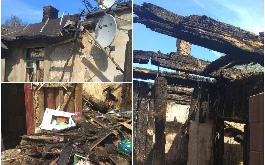 Reikia jūsų pagalbos: per gaisrą šeima neteko viso sukaupto turto