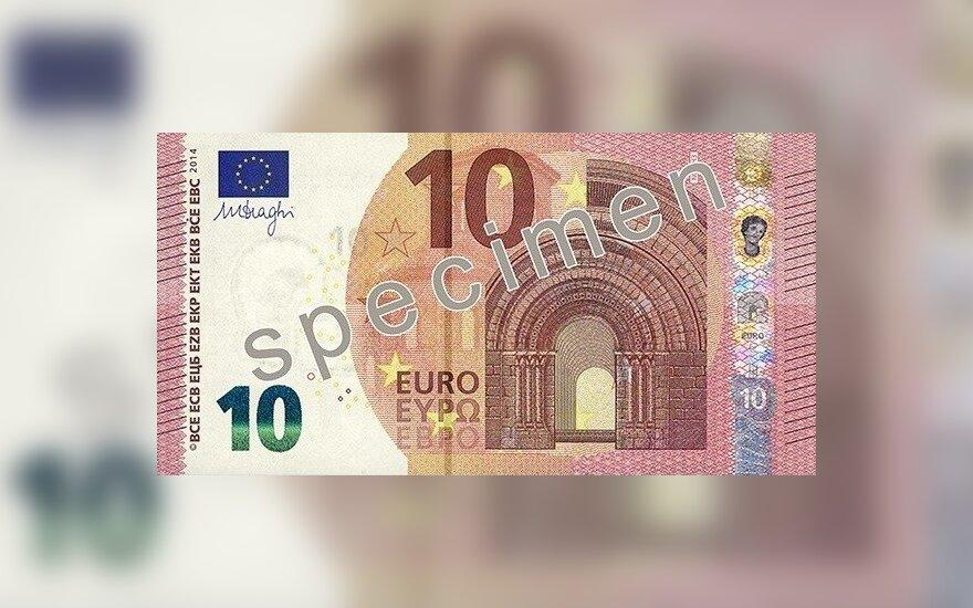 10 eurų nominalo banknotai