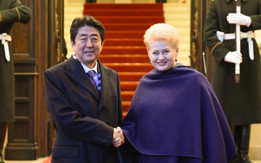 Shinzo Abe ir Dalia Grybauskaitė