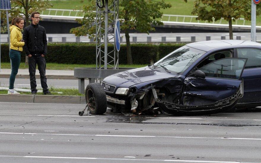 """Kaune – keista """"Audi"""" ir """"Fiat"""" avarija"""