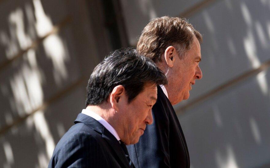 Jungtinių Valstijų ir Japonijos prekybos derybos baigiasi susikoncentravimu į žemės ūkį