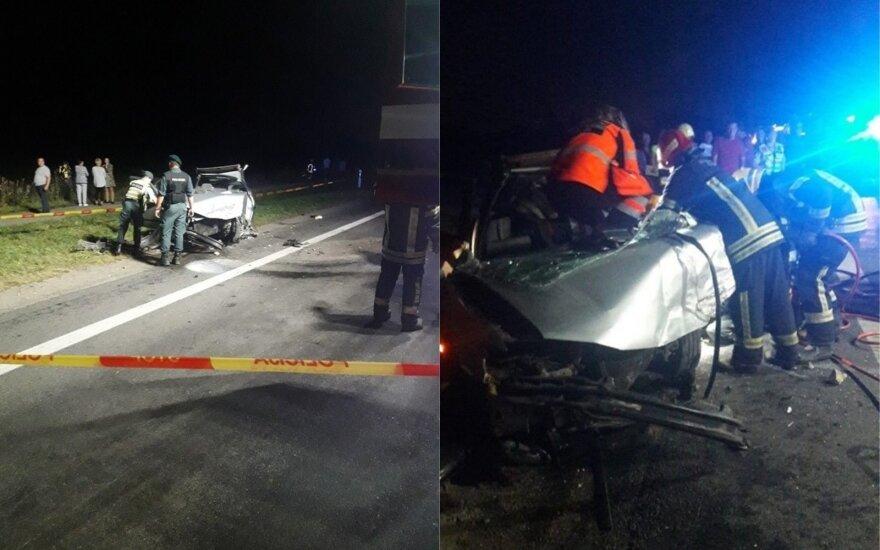 Kraupi avarija kelyje Panevėžys–Šiauliai: galimai kaltas alkoholis