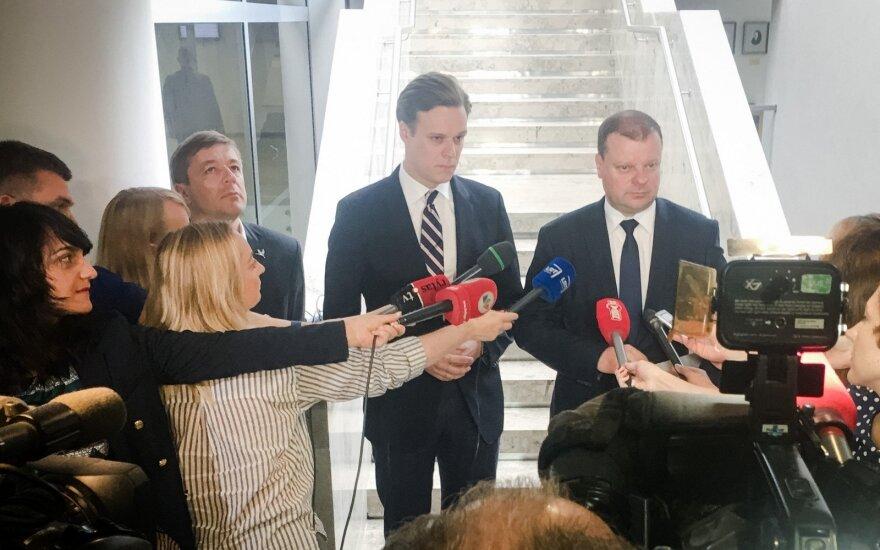 Ramūnas Karbauskis, Gabrielius Landsbergis ir Saulius Skvernelis