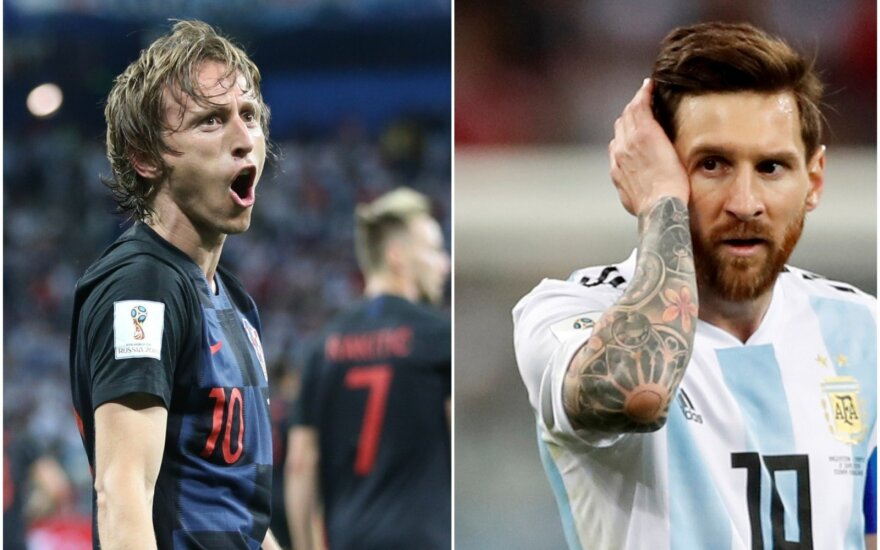 Luka Modričius ir Lionelis Messi