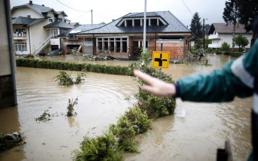 Serbijoje - didžiausias potvynis