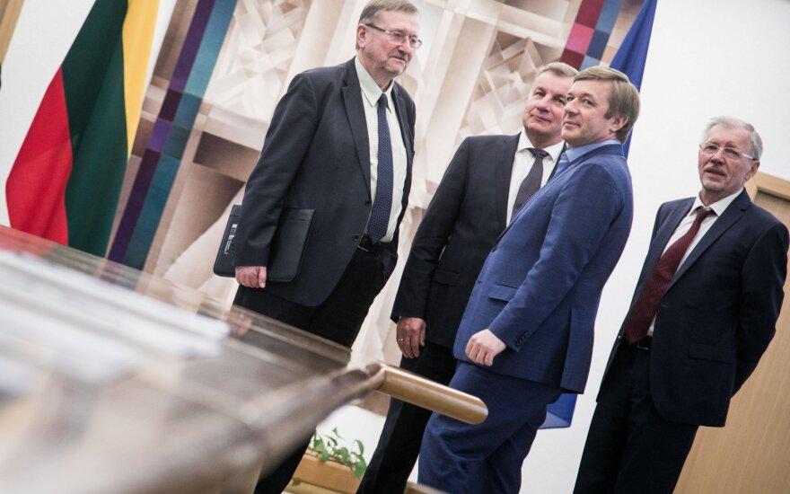 Juozas Bernatonis, Rimantas Sinkevičius, Ramūnas Karbauskis, Gediminas Kirkilas