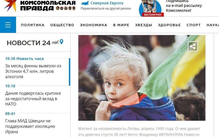 """Nuotraukos paantraštė: """"Mitingas už Lietuvos nepriklausomybę 1990 metais. Apie ką galvoja ši mergaitė praėjus trisdešimčiai metų?"""""""