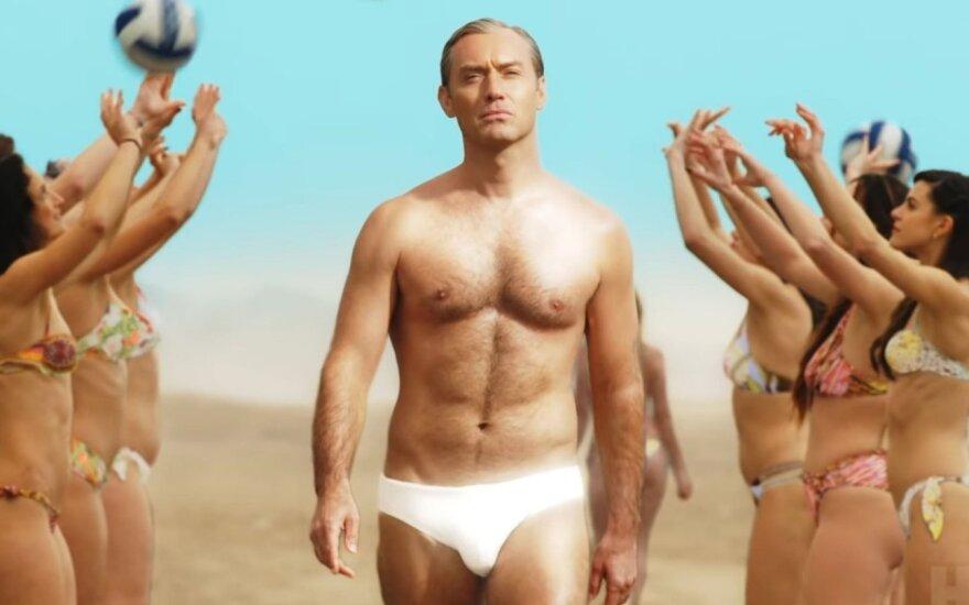 """Jude Law, kadras iš serialo """"Naujasis popiežius"""""""