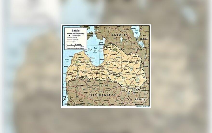 Latvijos žemėlapis